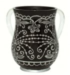 Black Oriental design Wash Cup
