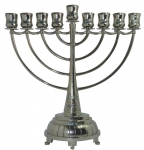Nickel Hanukah Menorah   Waves