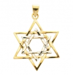 Gold Filled Large Intertwined Two Tone Star of David Pendant