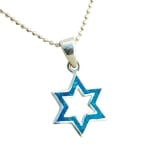 Opal two Star of David Pendant