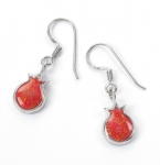 Coral Pomegranate Earrings