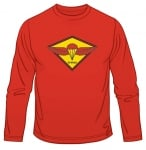 IDF Paratrooper Emblem Long Sleeved T Shirt