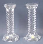 Spiral Glass Candlesticks