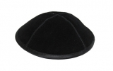 Black Suede Kippah With Rim