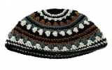 White brown and gray Frik kippah