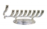 Nickel Hanukah Menorah   Fluid Design