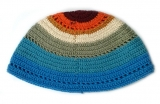 Premium DMC Frik Kippah Multi Colored Stripes