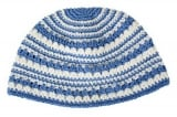 Light blue and white Stripes Frik Kippah