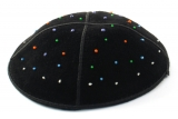 Hand Decorated Suede Colorful Kippah