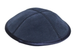 Dark Blue leather Kippah