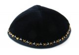 Hand Decorated Velvet Kippah