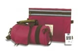 Maroon Tefillin Carrier with Tallit bag