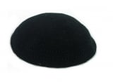 Large Black DMC knitted Kippah with holes