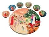 Seder Plate and Six Small Bowls