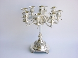 Silver Plated Nine Arm Candelabra