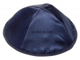 Dark Blue Satin Kippah
