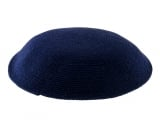 Dark Blue DMC knitted Kippah