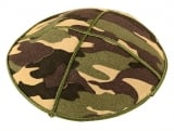 Camouflage Suede Kippah with attached clip