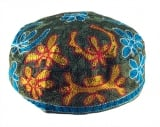 Olive Green Bucharian Hand Embroidered Kippah