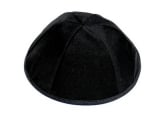 Black Large Terylene Kippah