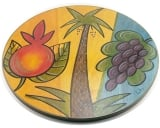 Seven Species of Israel Lazy Susan by Kakadu Art