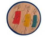 Wood Place Mat by Kakadu Art   People