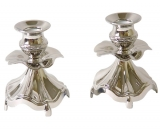 Small Decorative Nickel Candlesticks