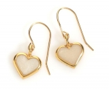 Pearl Colored Heart Earrings