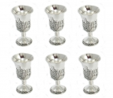 Jerusalem design Small kiddush cups set