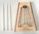 Handmade Safed Hanukah Candles   Pure White