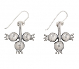 Silver Pomegranate Earrings