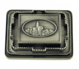 Pewter Matchbox Holder   Jerusalem Design