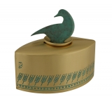 Tzedakah Box Duck By Shraga Landesman  Brass Patina