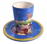 Ceramic Kiddush Cup   Jerusalem Design