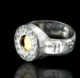 Hammered Silver Five Metal Ring for Success by HaAri