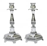 Octagonal Nickel Candlesticks