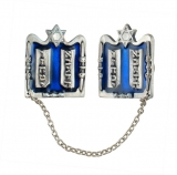 Silver Plated Ten Commandments Tallit Clips