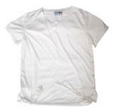 Adult White T Shirt with Tzitzit