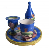 Ceramic Havdala Set   Jerusalem Design