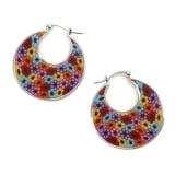 Afro Millefiori Earrings