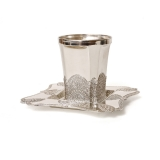 Kiddush Cup And Tray Filigree design