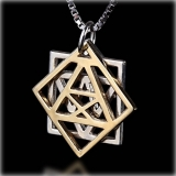 Kabbalah Pendant Adam and Eve By HaAri Jewelry