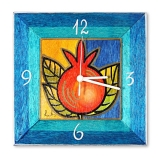 Pomegranate Hand Painted Wooden Clock by Kakadu