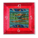 Hand Painted Wooden Clock  Jerusalem in Gold by Kakadu