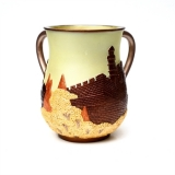 Polyresin Wash Cup   Bronze Jerusalem Wall design