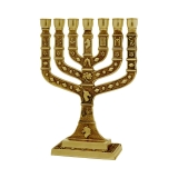 Square Branch Twelve Tribes Temple Menorah Bronze