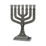 Square Branch Twelve Tribes Temple Menorah   Pewter