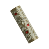 Galilee Stone Mezuzah by Caesarea Arts   Pomegranate