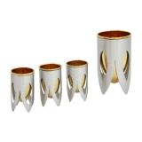 Caesarea Arts Lotus Collection   4 Kiddush Cup Set
