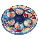 Jerusalem Seder Plate and Six Small Bowls   Yair Emanuel